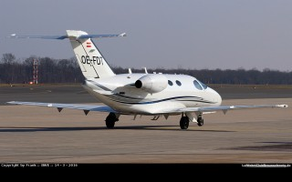 Bild: 14262 Fotograf: Frank Airline: GlobeAir Flugzeugtype: Cessna 510 Citation Mustang